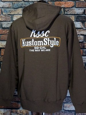 kustomstyle スウェットプルオーバーパーカー (KSP2102DBR) the way we are pullover hoodie カラー:ブラウン