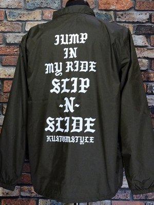 kustomstyle カスタムスタイル コーチジャケット (KSWB2115BR) SLIP-N-SLIDE coach jacket カラー:シールブラウン