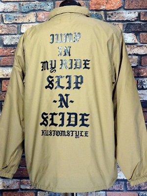 kustomstyle カスタムスタイル コーチジャケット (KSWB2115COY) SLIP-N-SLIDE coach jacket カラー:コヨーテ
