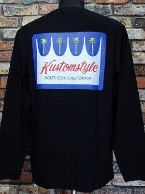 kustomstyle カスタムスタイル ロングスリーブTシャツ(KSTL2117BK) palms long sleve tee カラー:ブラック