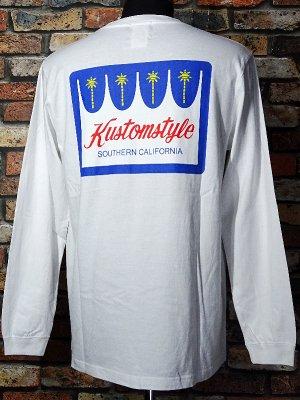 kustomstyle カスタムスタイル ロングスリーブTシャツ(KSTL2117WH) palms long sleve tee カラー:ホワイト