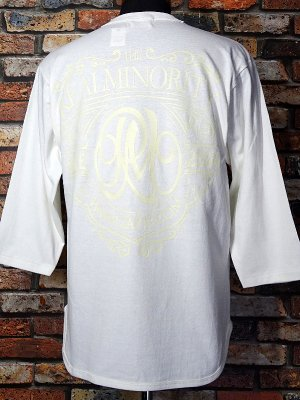 RealMinority リアルマイノリティー 3/4スリーブ ルーズフィットベースボールTee (Coat of arms) カラー:オフホワイト