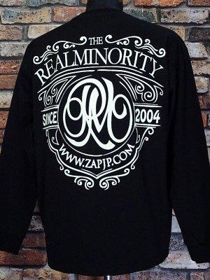 RealMinority リアルマイノリティー  ロングスリーブTシャツ (Coat of arms) 10.2oz tough body カラー:ブラック