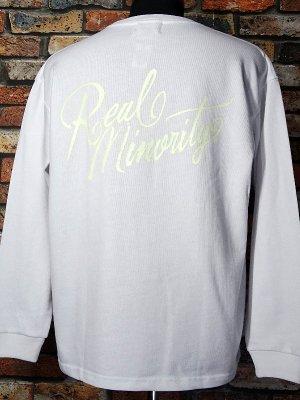 RealMinority リアルマイノリティー  ロングスリーブTシャツ (Sorrows) 10.2oz tough body カラー:ホワイト