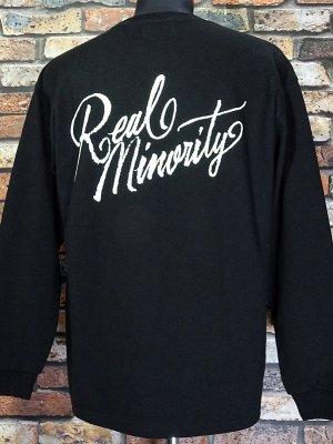 RealMinority リアルマイノリティー  ロングスリーブTシャツ (Sorrows) 10.2oz tough body カラー:ブラック