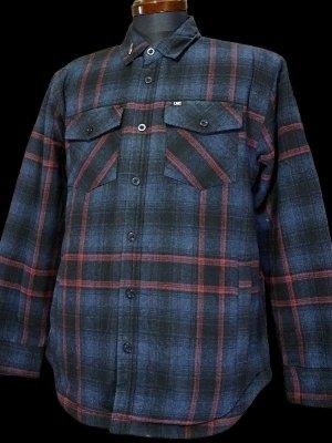 LoserMachine ルーザーマシーン 裏地ボア 長袖フランネル チェックシャツ (BROOKS) カラー:ブルー×レッド×ブラック