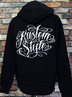 kustomstyle スウェットプルオーバーパーカー (KSP2119BK) NORM C/S bandana pullover hoodie 刺繍logo カラー:ブラック