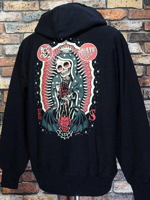 kustomstyle カスタムスタイル スウェットプルオーバーパーカー (KSP0509BK) maria skull pullover hoodie カラー:ブラック