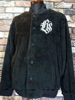kustomstyle カスタムスタイル フリース ボアジャケット (KSHWJ2111BK) cali graffiti fur fleece jacket カラー:ブラック