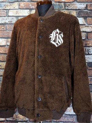kustomstyle カスタムスタイル フリース ボアジャケット (KSHWJ2111BR) cali graffiti fur fleece jacket カラー:ブラウン