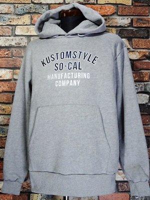 kustomstyle カスタムスタイル スウェットプルオーバーパーカー (KSP1515GY) TRUCK DOOR pullover hoodie カラー:グレー
