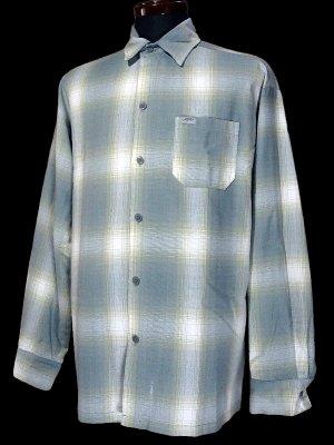 CalTop  キャルトップ 長袖チェックシャツ FL PLAID LONG SHIRT カラー:グレー×ホワイト