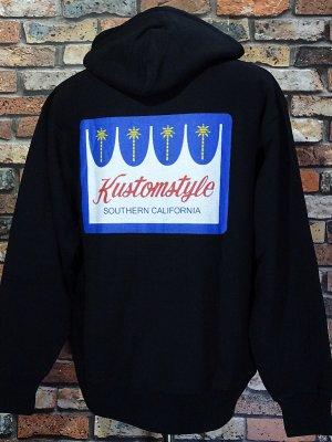 kustomstyle カスタムスタイル スウェットプルオーバーパーカー (KSP2117BK) PALMSS pullover hoodie カラー:ブラック