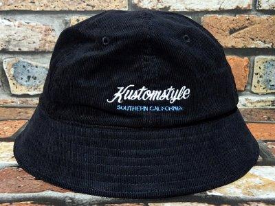kustomstyle カスタムスタイル コーディロイ メトロハット(KSBOWLHT2117BK) PALMS corduroy bowl hat カラー:ブラック