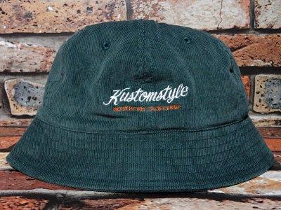 kustomstyle カスタムスタイル コーディロイ メトロハット(KSBOWLHT2117GR) PALMS corduroy bowl hat カラー:グリーン
