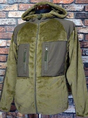 UNCROWD アンクラウド ミリタリーフリース フーディ (UC-503-021) military fleece hoodiet カラー:オリーブ