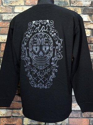 RealMinority リアルマイノリティー  ロングスリーブTシャツ (RM×3M3 syndicate) 10.2oz tough body カラー:ブラック
