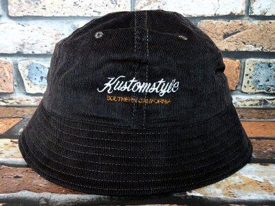 kustomstyle カスタムスタイル コーディロイ メトロハット(KSBOWLHT2117BR) PALMS corduroy bowl hat カラー:ブラウン