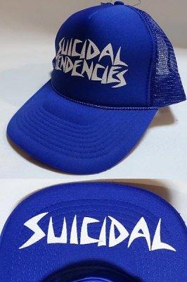 SUICIDAL TENDENCIES メッシュCAP カラー:ロイヤルブルーxホワイト
