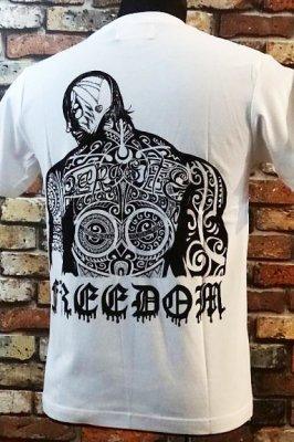 parasite パラサイト Tシャツ freedom カラー:ホワイト
