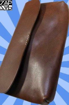 栃木レザー使用の長財布!日本製!スナップロングウォレット カラー:ブラウン