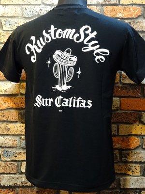 kustomstyle カスタムスタイル Tシャツ (KST1201BK) cactus sur califas  カラー:ブラック