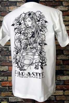 parasite パラサイト Tシャツ rose lip カラー:ホワイト