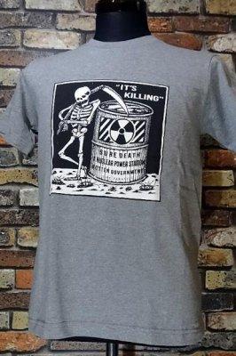 PARASITE パラサイト Tシャツ KILLING  カラー:グレー
