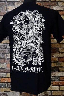parasite パラサイト Tシャツ rose lip カラー:ブラック
