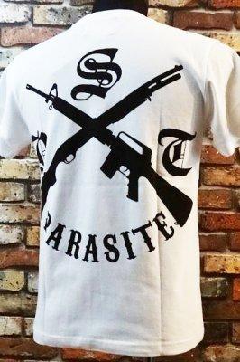 parasite パラサイト Tシャツ cross カラー:ホワイト