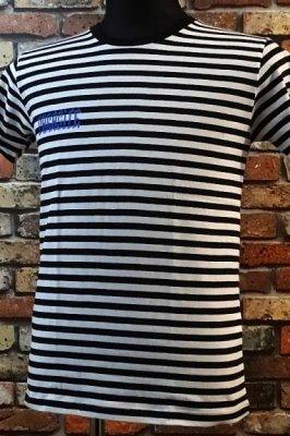 parasite パラサイト ボーダーTシャツ boder half  カラー:ホワイトxブラック