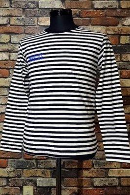 parasite パラサイト ボーダー ロングスリーブTシャツ boder long  カラー:ホワイトxブラック