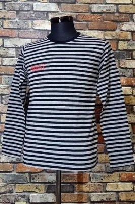 parasite パラサイト ボーダー ロングスリーブTシャツ boder long  カラー:グレーxブラック