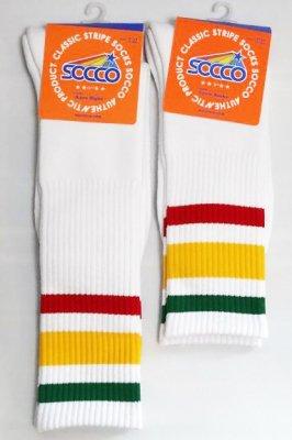 socco socks  ハイソックス  mc05 mk35  カラー:ホワイトxマルチカラー