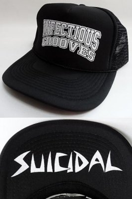 suicidal tendencies メッシュCAP Infectious grooves カラー:ブラックxホワイト