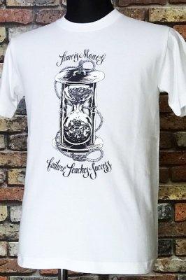 parasite パラサイト Tシャツ time is money カラー:ホワイト