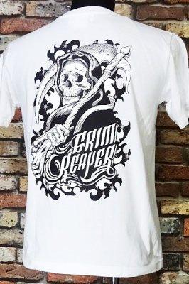 parasite パラサイト Tシャツ grim reaper  カラー:ホワイト