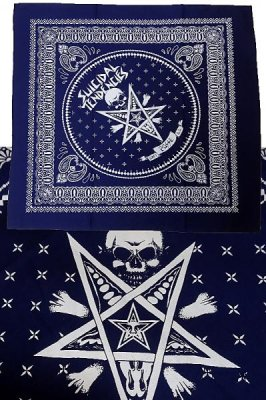 suicidal tendencies x obey  バンダナ  (POSSESSED) BANDANA カラー:ネイビー