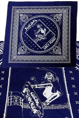 suicidal tendencies x obey  バンダナ  (POOL SKATER) BANDANA カラー:ネイビー