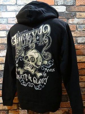 lucky13 ラッキー13 スウェットパーカー death or glory  カラー:ブラック