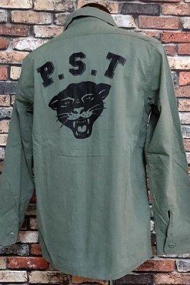 parasite パラサイト 長袖ワークシャツ (PST) カラー:オリーブ