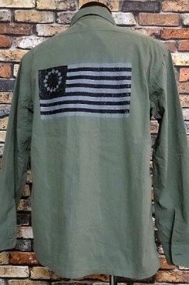 parasite パラサイト 長袖ワークシャツ (INDEPENDENT) カラー:オリーブ