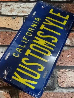 kustomstyle ライセンス プレート(KSLCPL-002) california license plate   カラー:ブルー