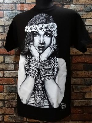 MOUSE LOPEZ CLOTHING Tシャツ (AZTEC GIRL) カラー:ブラック