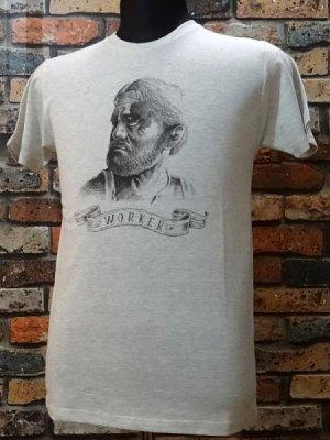 parasite パラサイト Tシャツ worker  カラー:オートミール