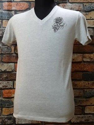 parasite パラサイト VネックTシャツ Guns  カラー:オートミール