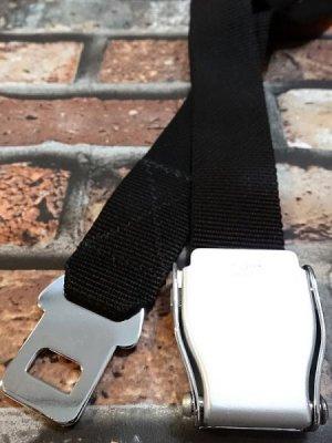 飛行機のシートベルトがパンツ用のベルトにアレンジされた[エアラインベルト] カラー:ブラック