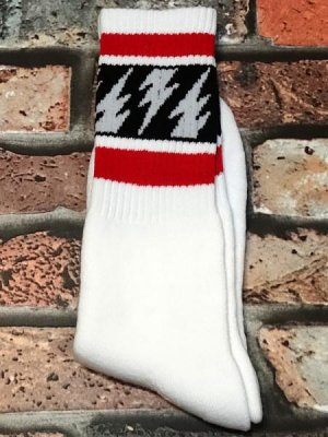 socco socks  ハイソックス  (MCMV1) マイクバレリー シグネチャーモデル White Crew  カラー:ホワイト