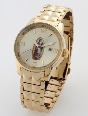 Felici フェリーチ   グアダルーペ マリア・ウオッチ腕時計  クォーツ(日本製)  カラー:ゴールドxゴールド