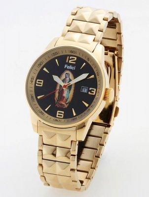 Felici フェリーチ   グアダルーペ マリア・ウオッチ腕時計 クォーツ(日本製)  カラー: ゴールドxブラック